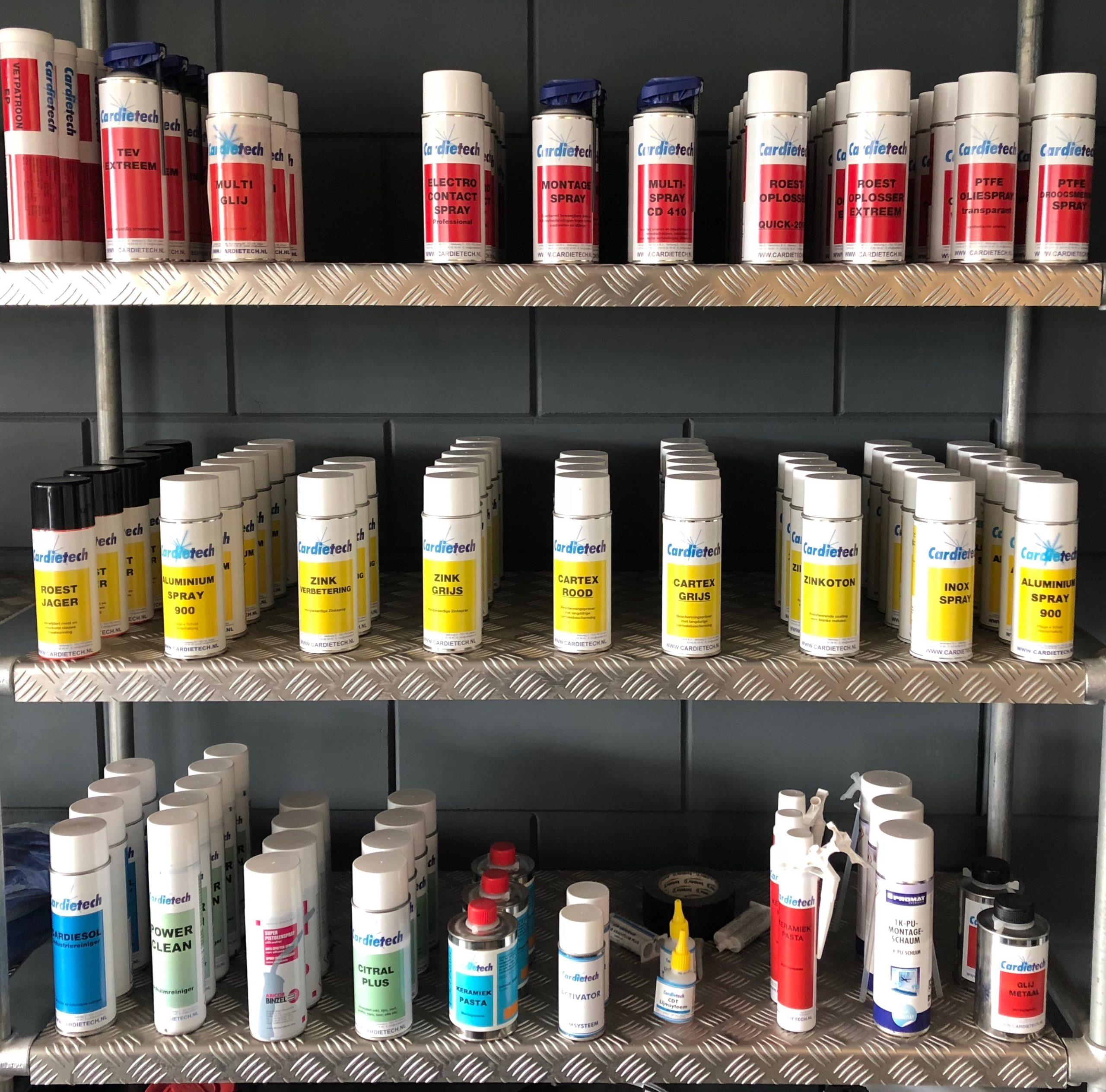 Technische sprays Cardietech Lastechniek - EWM & ESAB dealer, service center Oost Nederland