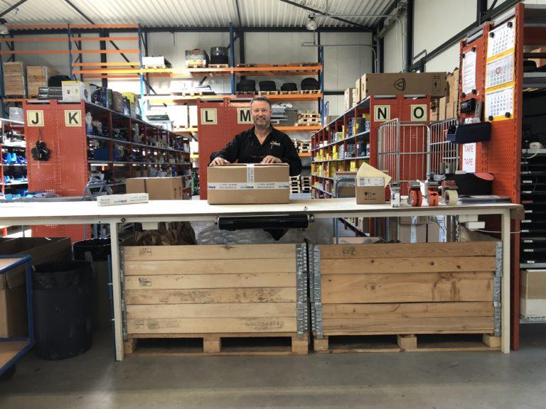 Magazijn Cardietech Lastechniek - EWM & ESAB dealer, service center Oost Nederland