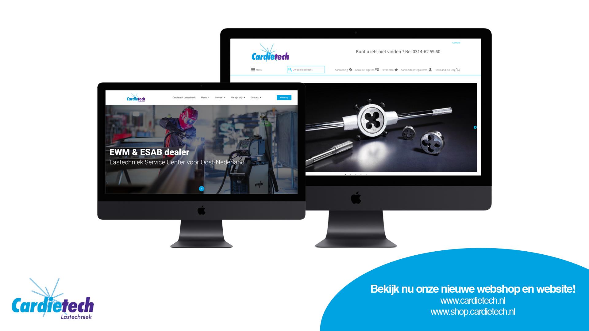 Vernieuwde website en webshop Cardietech Lastechniek